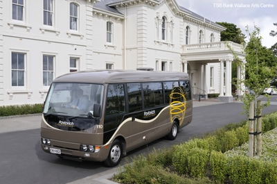 Mini coach 21-24 seater hire New Zealand, private charter coach hire