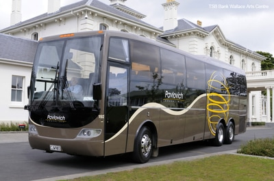 49-51 seater coach hire New Zealand, private charter coach hire